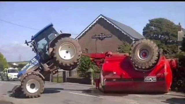 Zabawne traktory. Śmieszne filmy traktory. Zabawne filmy o traktorach #2