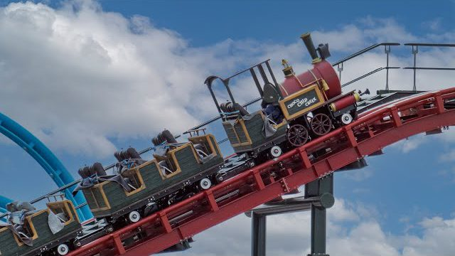 EnergyLandia –  Choco Chip Creek Test – Mine Train Roller Coaster – 2022