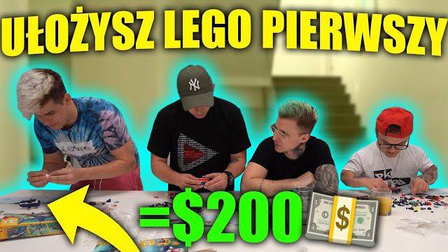 KTO SZYBCIEJ UŁOŻY KLOCKI LEGO WYGRYWA $$$!