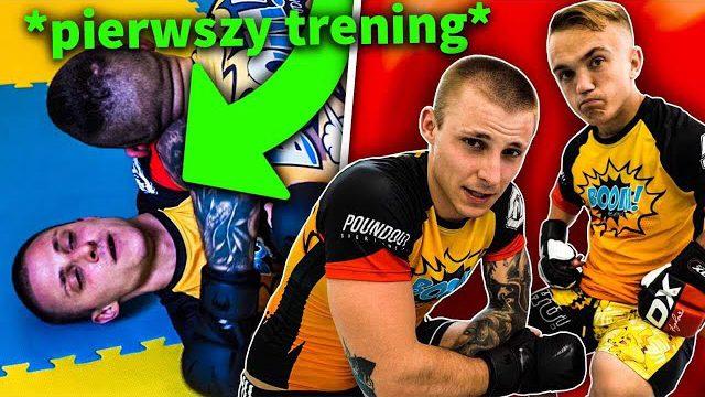 PIERWSZY TRENING DO FAME MMA Z MINI MAJKIEM!